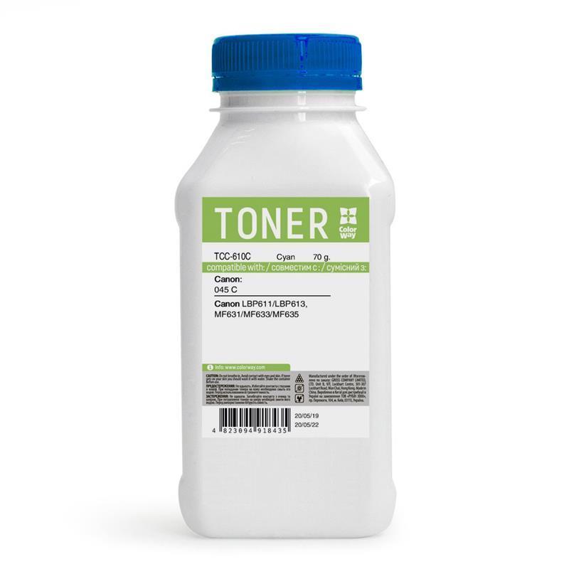 Тонер CW (TCC-610C) Canon MF610/630 Cyan 70 г