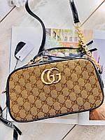 Жіноча шкіряна сумочка Гучи (репліка), фото 1