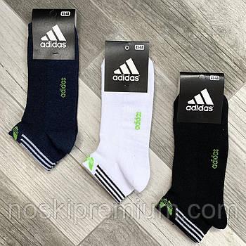 Носки мужские спортивные х/б с сеткой Adidas Athletic, размер 41-44, короткие, ассорти, 12616