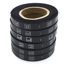 Размерник пришивной (накатка) Чёрный