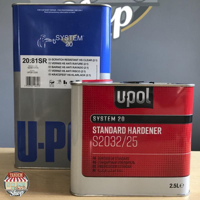 Лак акриловый повышенной прочности U-POL S2081SR 2:1, 5 л + 2,5 л Комплект