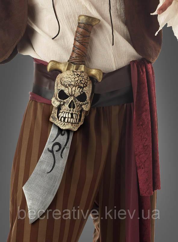 Пиратская сабля с поясом черепа