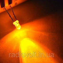 Светодиод F3 3мм, Оранжевый