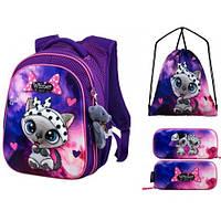 Школьный рюкзак для девочки подарок брелок игрушка Winner R1-002 комплект
