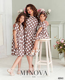 Очаровательное платье на девочку в горошек, фемели лук, размер от 122 до 164