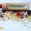 Подарункова коробка крафт з віконечком 203*52*52,розсувна., фото 2