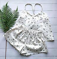 Нежная женская пижама в цветочек, фото 1