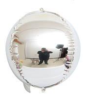 """Шар фольгированный сфера 3D серебро 10"""" (Китай)"""