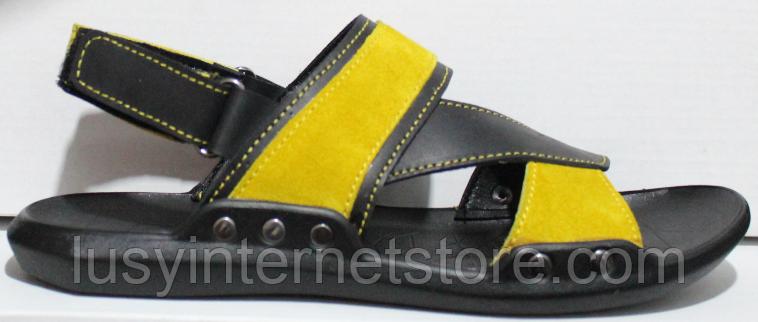 Босоножки детские на липучке кожаные от производителя модель ДЖ116