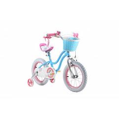 Детский двухколесный велосипед Royal Baby Stargirl RB12G-1C колеса 12 дюймов рама сталь голубой