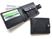 Мужской кошелек кожаный черный Ручная работа