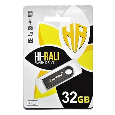 Флеш-накопичувач USB 32GB Hi-Rali Shuttle Series Black (HI-32GBSHBK)