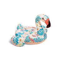Надувной плотик Фламинго 142*137*97см