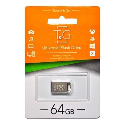 Флеш-накопитель USB 64GB T&G 105 Metal Series Silver (TG105-64G)