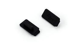 Заглушки силиконовые изолирующие защитные в USB-порт от пыли / грязи / воды / дождя ЧЁРНЫЙ