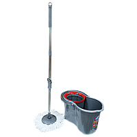 Набор для уборки Planet Spin Mop Classic 19 л металлик