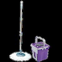Набор для уборки Planet Spin Mop Telescopic 9 л пурпурный