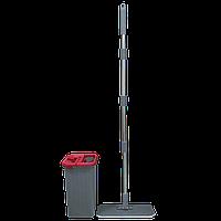 Набор для уборки Planet Tablet Mop Midi 4 л серо-красный