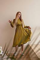 Женское платье штапельное модное в расцветках (Норма, Батал)