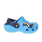 Дитячі українські легкі крокси з піни, блакитні з темно-синім сабо, фото 3