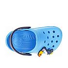 Дитячі українські легкі крокси з піни, блакитні з темно-синім сабо, фото 5