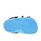 Дитячі українські легкі крокси з піни, блакитні з темно-синім сабо, фото 6