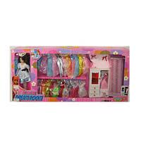 Кукла с нарядом 288-12C (10шт) 28см, шарнир,платья, шкаф,кровать,микс видов,в кор-ке, 83-35,5-10,5см