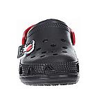 Детские украинские кроксы  из пены, черные с красным сабо шлепанцы, фото 6