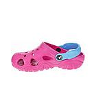Дитячі крокси сабо з піни, рожеві з блакитним легкі шльопки на пляж, море, дачу, фото 3