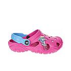 Дитячі крокси сабо з піни, рожеві з блакитним легкі шльопки на пляж, море, дачу, фото 2