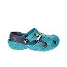 Дитячі крокси сабо з піни, блакитні з темно-синім сабо хлопчикам і дівчаткам на пляж, у двір, фото 2