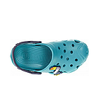 Дитячі крокси сабо з піни, блакитні з темно-синім сабо хлопчикам і дівчаткам на пляж, у двір, фото 4