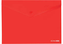 Папка-конверт А5 на кнопке Economix красная E31316-03