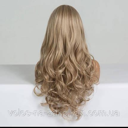 Парик волнистый с челкой по медицинским показаниям перука друга з гривкою блонд 2, фото 2