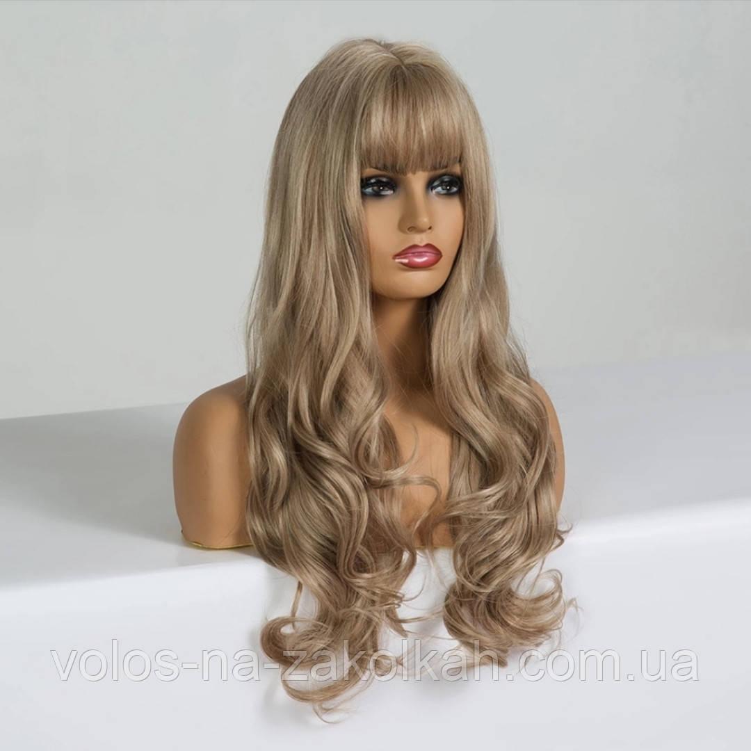 Парик волнистый с челкой по медицинским показаниям перука друга з гривкою блонд 2