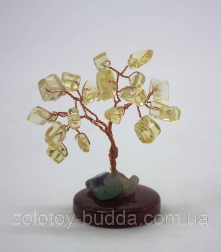 Дерево счастья с цитрином.