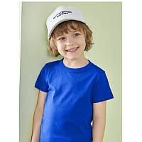 Летняя футболка для мальчика синяя из хлопка 27 KIDS