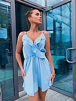 Летнее платье с расклешенной юбкой и оборками на груди 60PL1207, фото 1