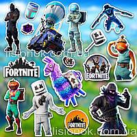 Набор наклеек Fortnite с героями любимой игры Фортнайт, стикеры, фото 1