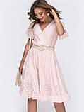 Літнє плаття з прошвы з гумкою по талії, фото 6