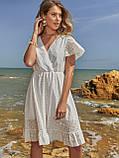 Літнє плаття з прошвы з гумкою по талії, фото 5