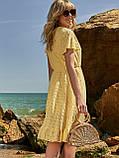 Літнє плаття з прошвы з гумкою по талії, фото 2