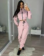 Женский спортивный костюм из плотного трикотажа с мастеркой на молнии 20SP943, фото 1