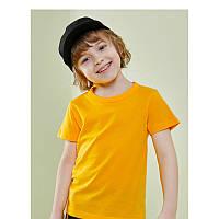 Летняя футболка для мальчика желтая хлопковая 27 KIDS