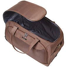 Дорожная сумка FILIPPINI малая три колеса  57х30х35  коричневая ксТ0045корм, фото 3