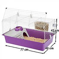 Клетка для кроликов и морских свинок Ferplast Cavie 80 77х48х42 см Серая