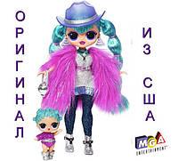 Большая кукла ЛОЛ Космик нова и сестричка Зимнее диско L.O.L. Surprise! OMG Winter Disco Cosmic Nova Fashion