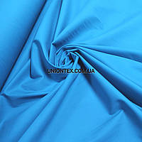 Ткань коттон стрейч голубая бирюза