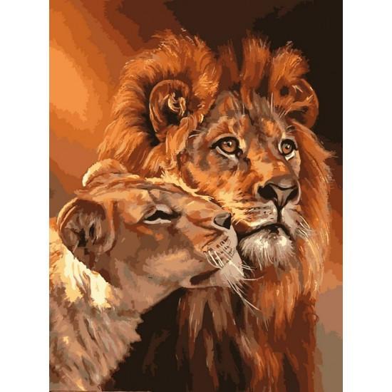 Картина за номерами Королівська пара, 40x50 див., Babylon Premium
