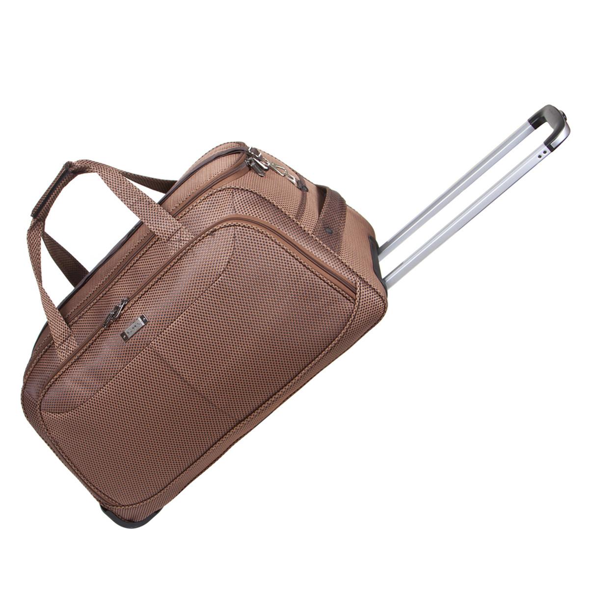 Дорожня сумка середня FILIPPINI три колеса 62х33х38 коричнева ксТ0045корср